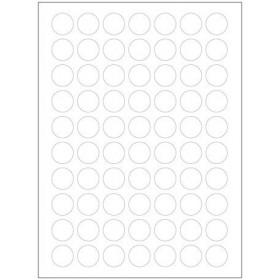 Autocollants blancs (132x)