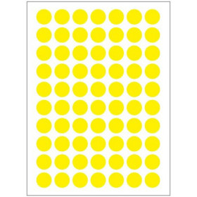 Autocollants jaunes (132x)
