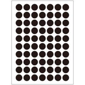 Autocollants noirs (132x)