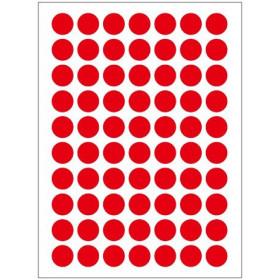 Autocollants rouges (132x)