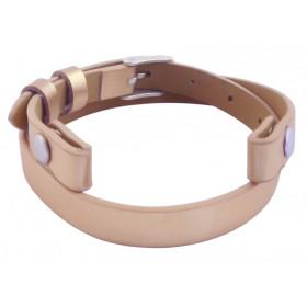 Bande de cuir rose gold pour bracelet