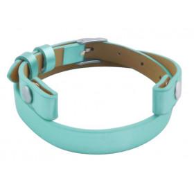 Bande de cuir turquoise pour bracelet