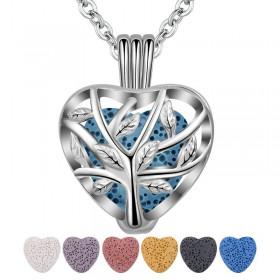 Collier Lava petit Cœur