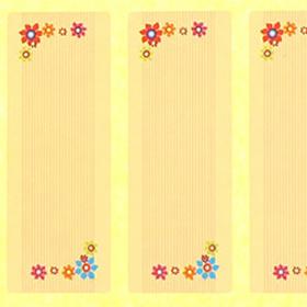Étiquettes Fleurs (12x)