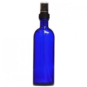 Flacon Bleu 200ml avec vaporisateur (verre)
