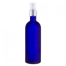 Flacon Bleu 100ml avec vaporisateur (verre)