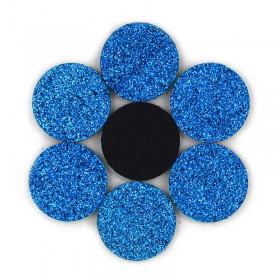 Rondelles à paillettes bleues 22mm (5 pièces)