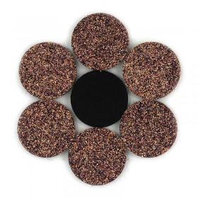 Rondelles à paillettes brunes 22mm (5 pièces)