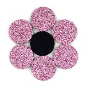 Rondelles à paillettes roses 22mm (5 pièces)