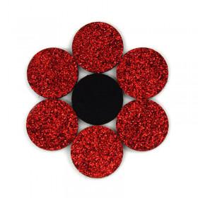 Rondelles à paillettes rouges 22mm (5 pièces)