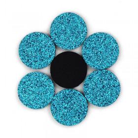 Rondelles à paillettes turquoises 22mm (5 pièces)