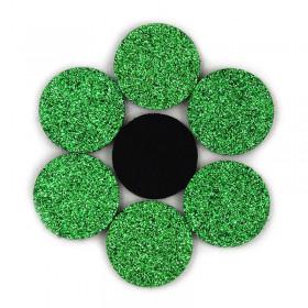Rondelles à paillettes vertes 22mm (5 pièces)