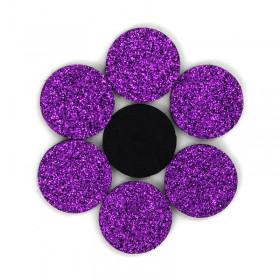 Rondelles à paillettes violettes 22mm (5 pièces)