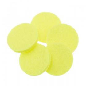 Rondelles jaunes fluo 18mm (5 pièces)