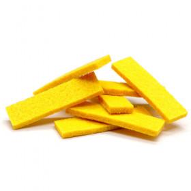 Tissus rectangulaires jaunes (5 pièces)