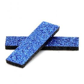 Tissus rectangulaires à paillettes bleus (5 pièces)