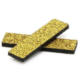 Tissus rectangulaires à paillettes dorés (5 pièces)