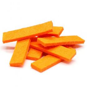 Tissus rectangulaires orange (5 pièces)