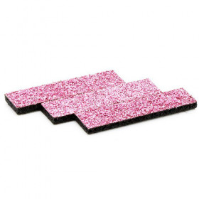 Tissus rectangulaires à paillettes rose (5 pièces)