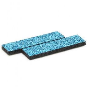 Tissus rectangulaires à paillettes turquoises (5 pièces)