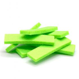 Tissus rectangulaires verts (5 pièces)