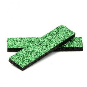 Tissus rectangulaires à paillettes verts (5 pièces)