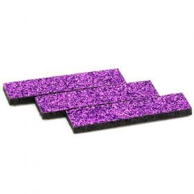 Tissus rectangulaires à paillettes violets (5 pièces)